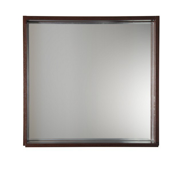 Fresca fmr8130wg allier 30 inch wenge mirror with shelf for Miroir wenge