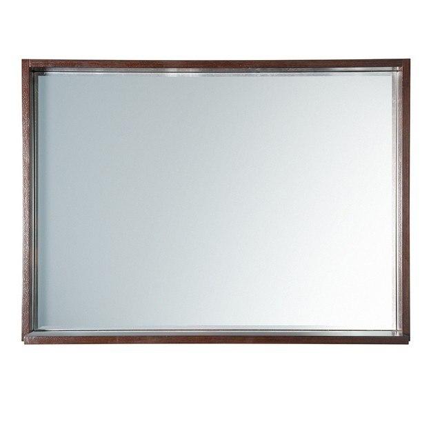 Fresca fmr8140wg allier 40 inch wenge mirror with shelf for Miroir wenge