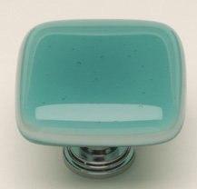 Sietto K-407 Intrinsic Aqua 1-1/4 Inch Square Cabinet Knob