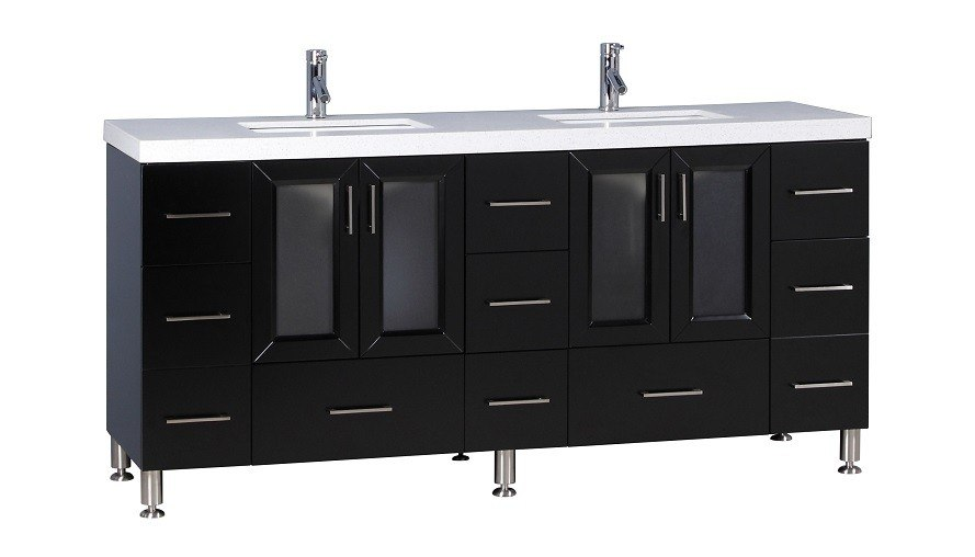 Design Element Wf 72 Westfield 72 Inch Double Sink Vanity In Espresso Wf 72 Wf72 Bathroom Vanity