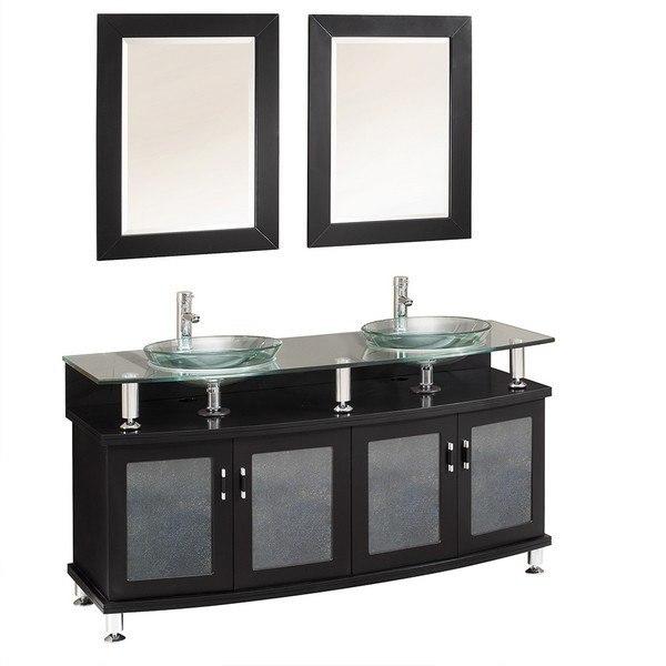 Fresca Fvn3310es Contento 60 Inch Espresso Double Sink Modern Bathroom Vanity With Mirrors