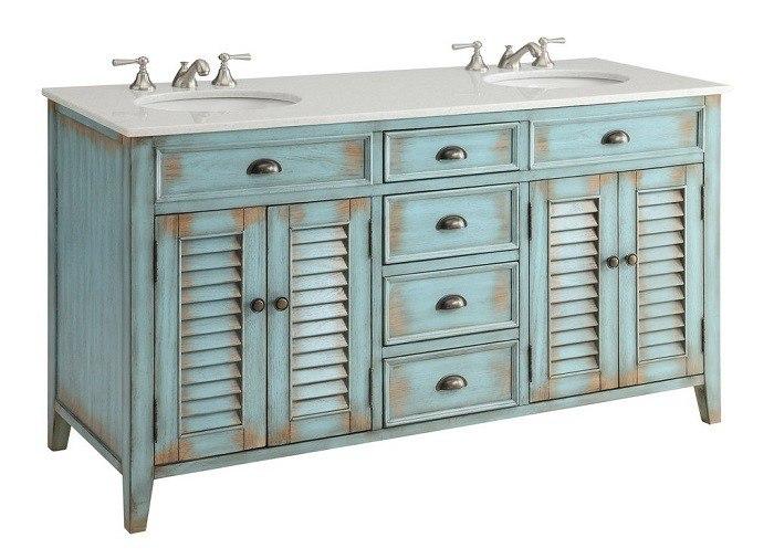 Chans Furniture Cf 88323bu 60 Abbeville 60 Inch Distressed