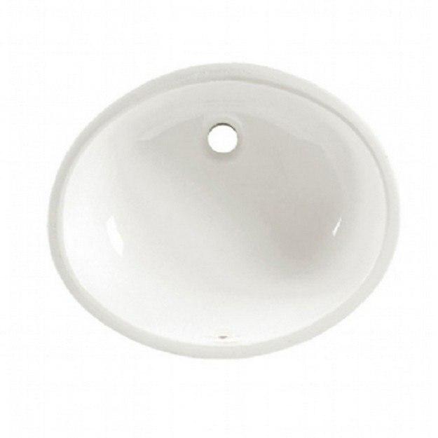 American Standard 0495.300.020 Ovalyn 15-1/12 Inch Porcelain Undermount Oval Sink in White