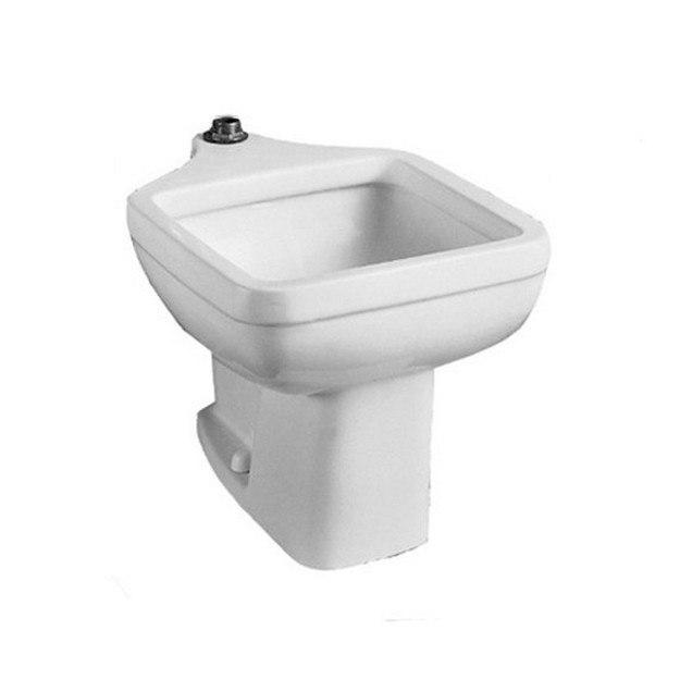 American Standard 9504.999.020 Clinic 20 Inch Porcelain Floor Mount Rectangular Service Sink in White