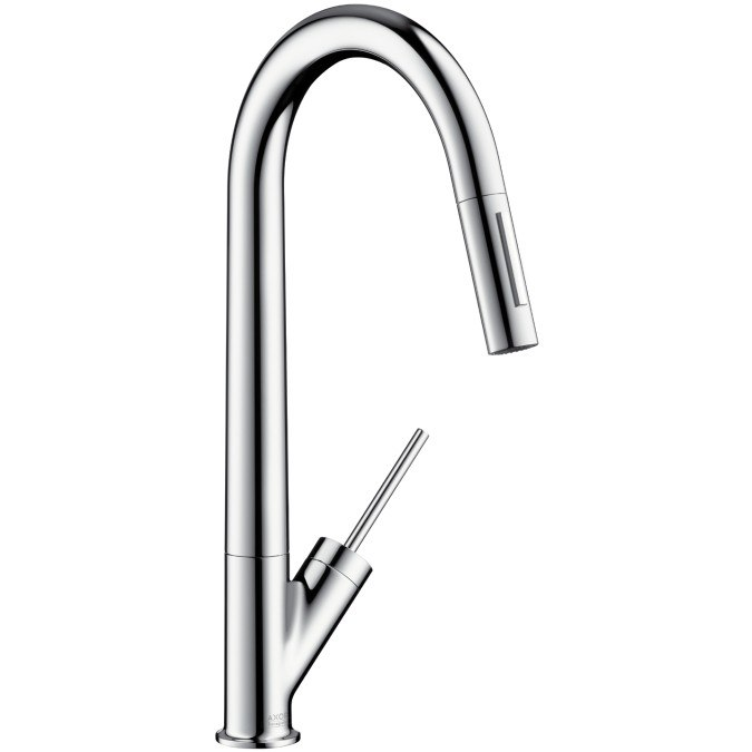 Hansgrohe 10821 Axor Starck HighArc Kitchen Faucet w/ Pull-Out Spray