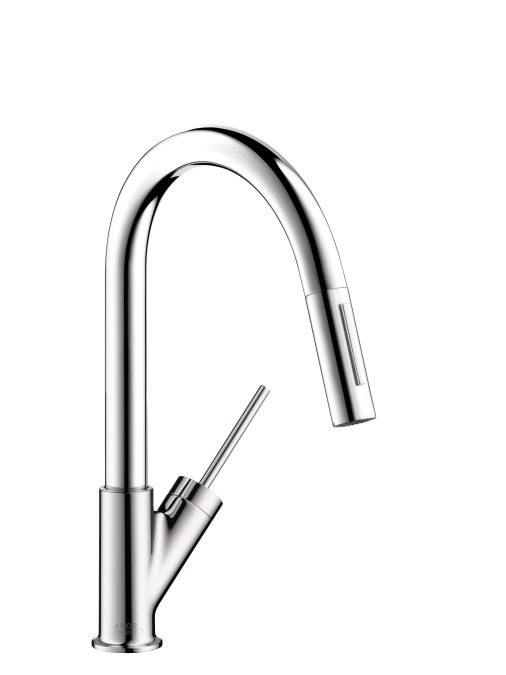 hansgrohe 10824 axor starck prep kitchen faucet w pull. Black Bedroom Furniture Sets. Home Design Ideas