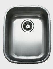 Ukinox D376.8 16 Inch Undermount Single Bowl Sink: 8 Inch Bowl Depth