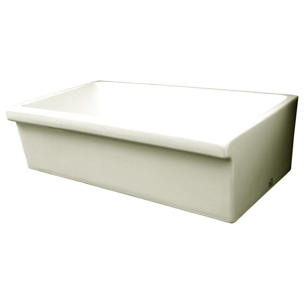 whitehaus whq536 large quatro 36 inch alcove reversible fireclay sink decorative 2 12 inch lip on one side 2 inch apron kitchen sink kitchen sinks alcove