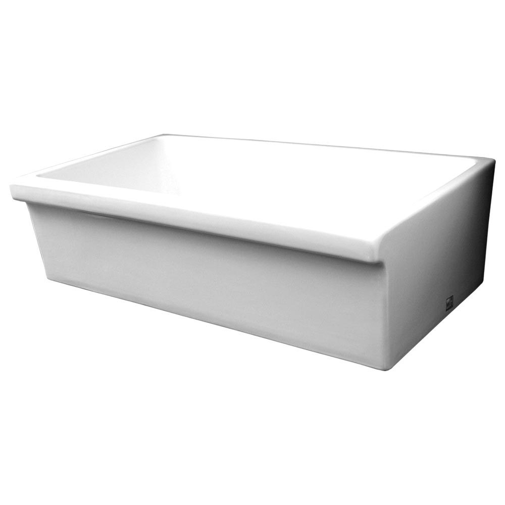Quatro 36 Inch Alcove Reversible Fireclay Sink Decorative 2 1/2 Inch ...