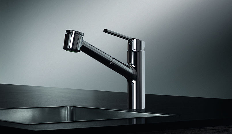 kwc 10 441 033 luna e kitchen faucet with pull out spray