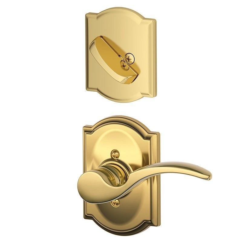 schlage residential f94stacamlh f series st annes with camelot rose door locks interior trim