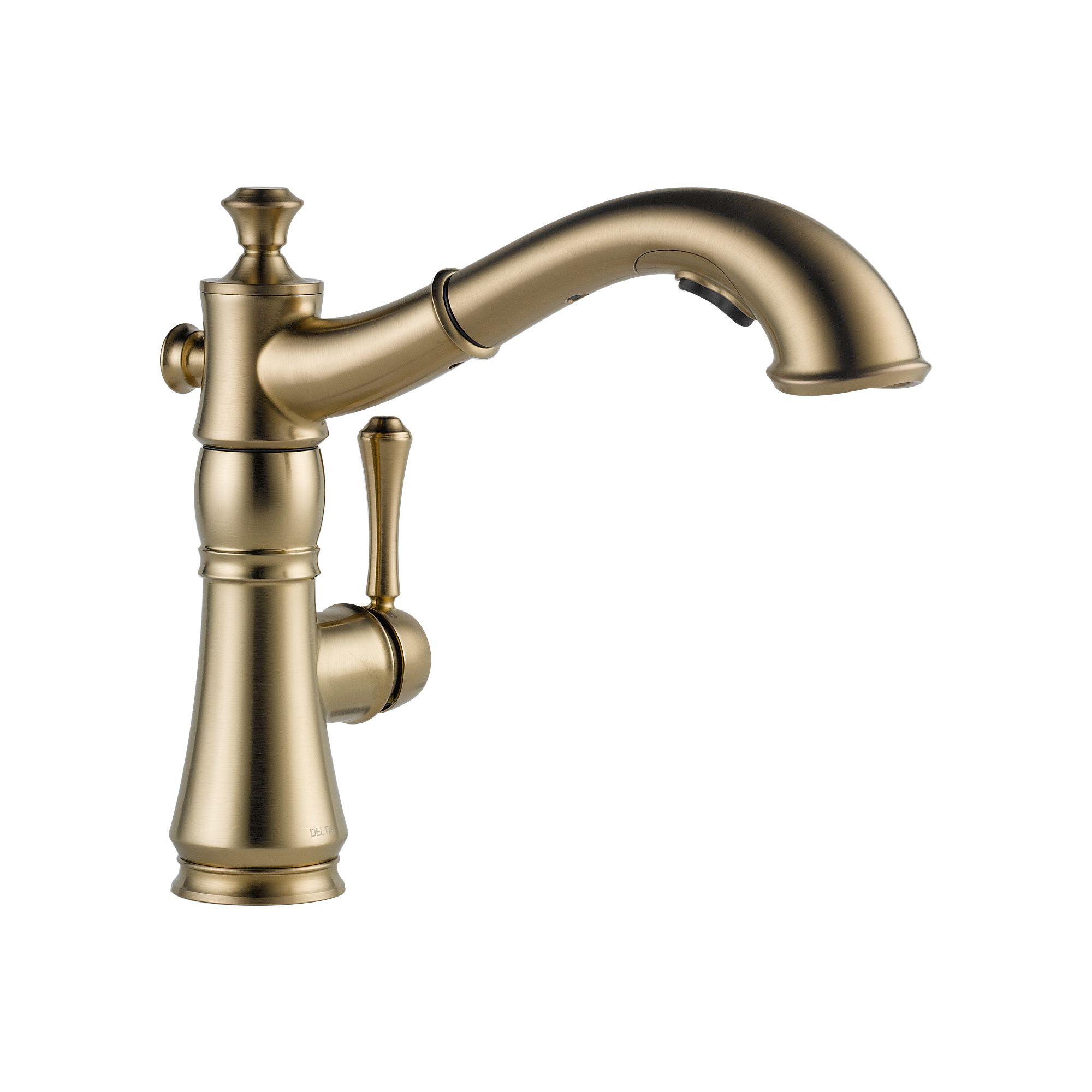 Delta Pull Out Kitchen Faucet Delta 4197 Dst Cassidy Single Handle Pull Out Kitchen Faucet 4197